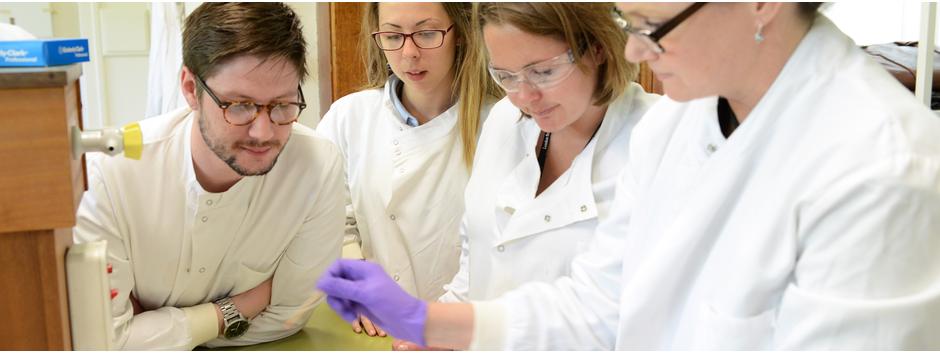 LSHTM students in lab